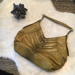 NWOT Cole Haan Trinity Python Print Green Purse